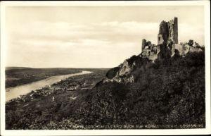 Ak Königswinter am Rhein, Drachenfels, Blick auf Königswinter und Godesberg