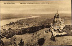 Ak Königswinter am Rhein, Drachenburg, Blick auf Königswinter und Godesberg