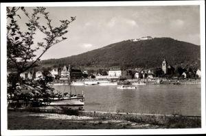 Ak Königswinter am Rhein, Blick auf den Petersberg und Königswinter