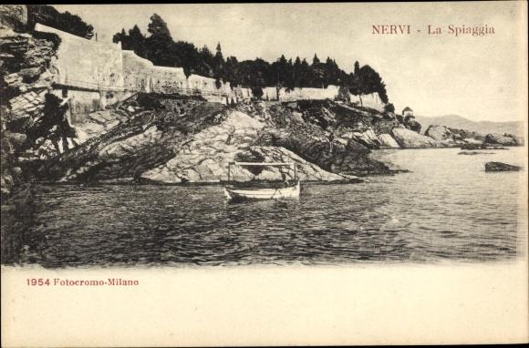 Ak Nervi Genova Genua Liguria, La Spiaggia