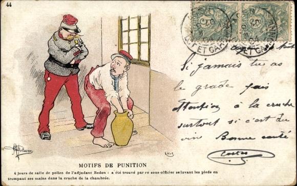 Künstler Ak Guillaume, Albert, Motifs de Punition, Polizist