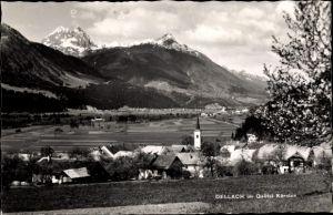 Ak Dellach in Kärnten, Panorama mit Gailtal