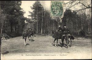 Ak Foret de Rambouillet, Chasse à courre, En Route