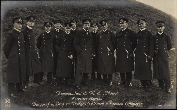 Ak Kommandant SMS Möwe, Korvettenkapitän Burggraf und Graf zu Dohna Schlodien, Novitas 24 5