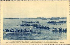 Ak Saint Louis Senegal, Courses de pirogues sur le fleuve Senegal, Boote