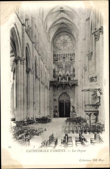Ak Amiens Somme, Cathedrale, les Orgues, Kathedrale, Orgel