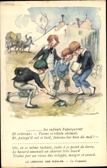 Künstler Ak Poulbot, Francisque, La Légende des Siècles, Le Crapaud