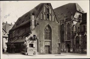Ak Nürnberg in Mittelfranken Bayern, Moritzkapelle, Bratwurstglöcklein, St. Sebalduskirche