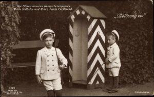 Ak Söhne des Kronprinzenpaares, Prinz Wilhelm, Prinz Louis Ferdinand