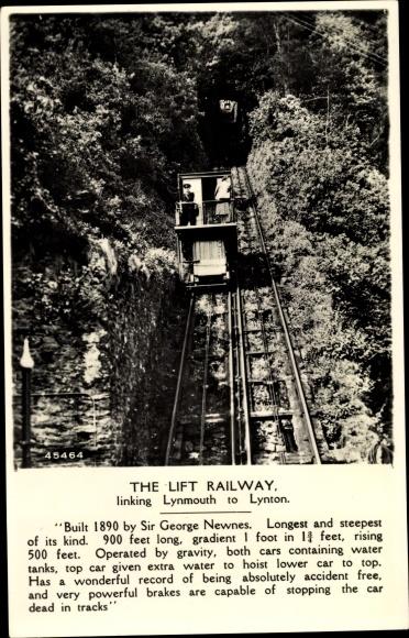 Ak The Lift Railway linking Lynmouth to Lynton, Seilbahn