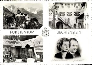 Ak Fürstentum Liechtenstein, Schloss Vaduz, Fürst Franz Josef II, Fürstin Cina