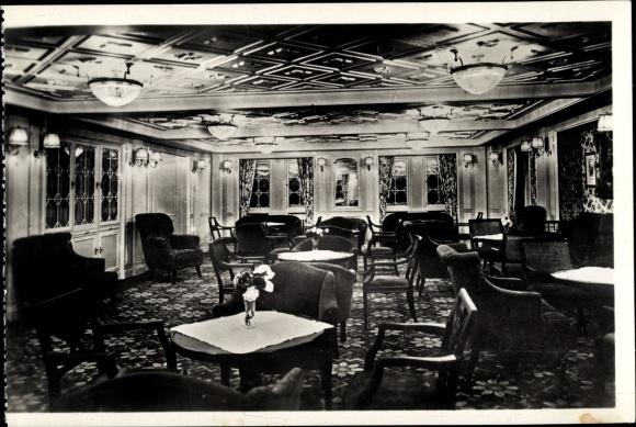 Ak Dampfer Columbus, Norddeutscher Lloyd Bremen, 2. Klasse Damensalon