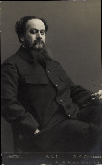 Ak Russischer Theaterschauspieler, L.M. Leonndow
