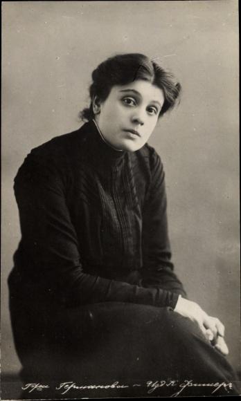 Ak Russische Theaterschauspielerin, Portrait