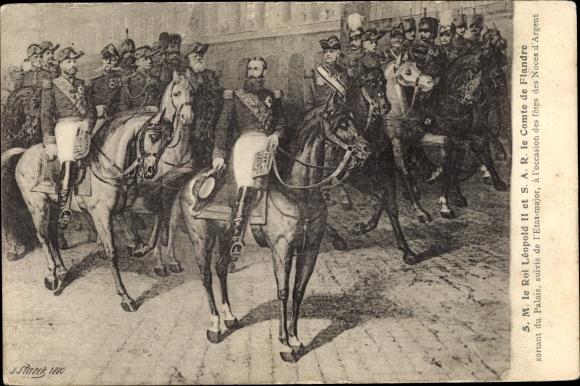Künstler Ak König Leopold II. von Belgien, Le Comte de Flandre