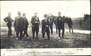 Ak König Alfons XIII. von Spanien, Alphonse XIII à Chalons, 1er Juin 1905