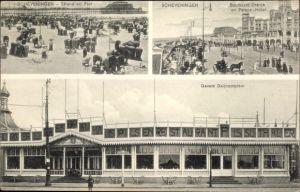 Ak Scheveningen Den Haag Südholland, Strand en Pier, Gevers Deijnootplein, Boulevard Oranje