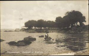 Ak Konstantinopel Istanbul Türkei, Fanaraki au Bosphore, Leuchtturm