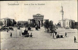 Ak Konstantinopel Istanbul Türkei, Entrée et Tour du Séraskérat