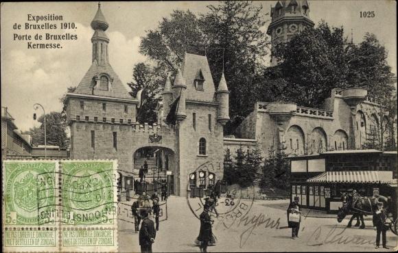 Ak Brüssel Belgien, Portes de Bruxelles Kermesse, Exposition de Bruxelles 1910