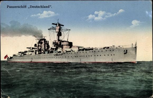 Ak Deutsches Kriegsschiff, Deutschland, Panzerschiff