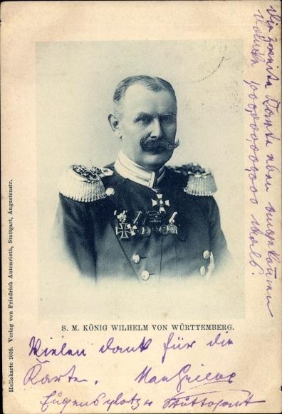 Ak SM König Wilhelm von Württemberg, Portrait