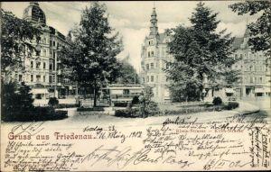 Ak Berlin Schöneberg Friedenau, Rheinstraße, Kirchstraße