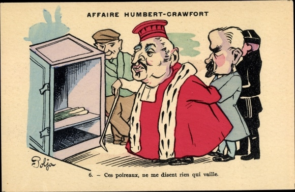 Künstler Ak Polja, Affaire Humbert Crawfort, Erbbetrug, Therese Humbert
