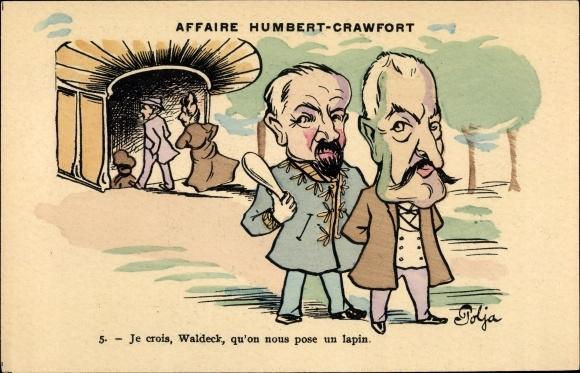Künstler Ak Polja, Affaire Humbert Crawfort, Erbbetrug, Therese Humbert, Waldeck
