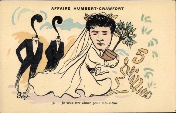 Künstler Ak Polja, Affaire Humbert Crawfort, Erbbetrug, Therese Humbert, 5 Millions