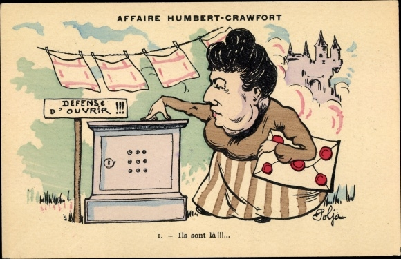 Künstler Ak Polja, Affaire Humbert Crawfort, Erbbetrug, Therese Humbert, Defense