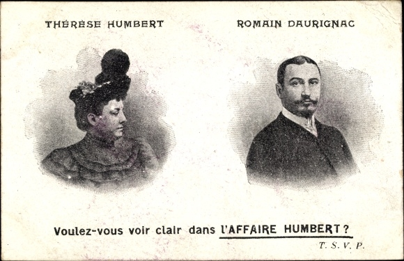 Ak Affaire Humbert Crawfort, Erbbetrug, Therese Humbert, Romain Daurignac