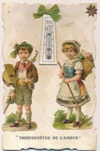 Material Ak Thermomètre de l'Amour, Kinder, Thermometer, Kitsch