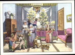 Ak Frohe Weihnachten, Tannenbäume, Kinder