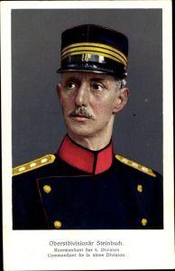 Ak Oberstdivisionär Steinbuch, Kommandant der 5. Division, Schweizer Armee