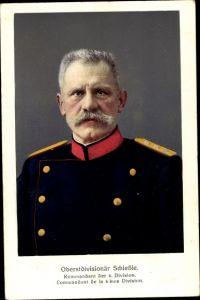 Ak Oberstdivisionär Schießle, Kommandant der 6. Division, Schweizer Armee