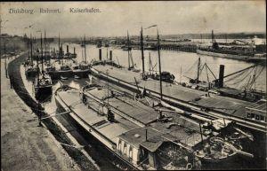 Ak Ruhrort Duisburg Nordrhein Westfalen, Kaiserhafen