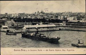 Ak Buenos Aires Argentinien, Darsena Norte, Puerto Madero