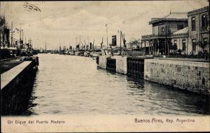 Ak Buenos Aires Argentinien, Un Dique del Puerto Madero