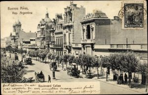 Ak Buenos Aires Argentinien, Boulevard Callao