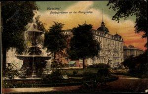Ak Düsseldorf am Rhein, Springbrunnen an der Königsallee