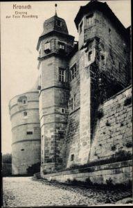Ak Kronach im Frankenwald Bayern, Eingang zur Feste Rosenberg