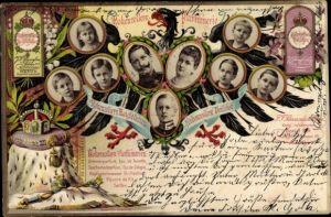 Litho Hohenzollern Parfumerie, Hohenzoller Maiglöckchen, Hohenzollern Veilchen, J. F. Schwarzlose