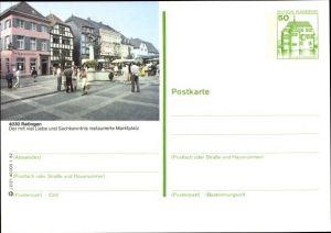 Ganzsachen Ak Ratingen Nordrhein Westfalen, Marktplatz