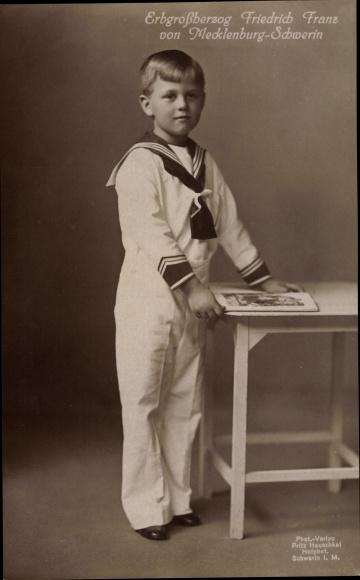 Ak Erbgroßherzog Friedrich Franz von Mecklenburg Schwerin