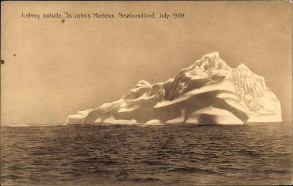 Ak Saint John's Neufundland und Labrador Kanada, Iceberg outside, 1909
