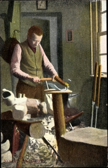 Ak Noord Brabant, Schuster, Holzschuhmacher