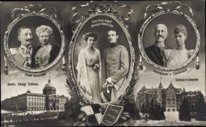 Ak Herzog Ernst August von Braunschweig, Prinzessin Viktoria Luise, Kaiserpaar, Herzog v. Cumberland
