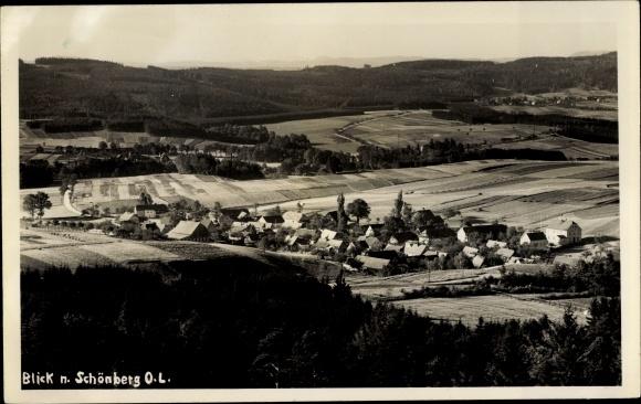 Ak Sulików Schönberg Oberlausitz Schlesien, Panorama