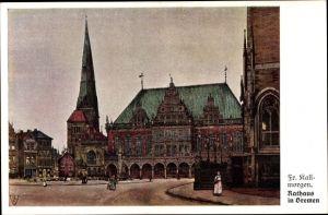 Künstler Ak Kallmorgen, Fr., Hansestadt Bremen, Rathaus